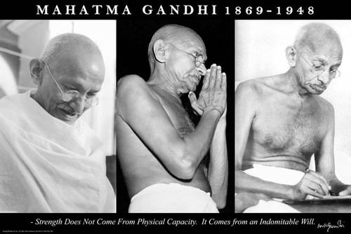 """Mahatma Gandhi Trio Poster 36"""" x 24"""""""