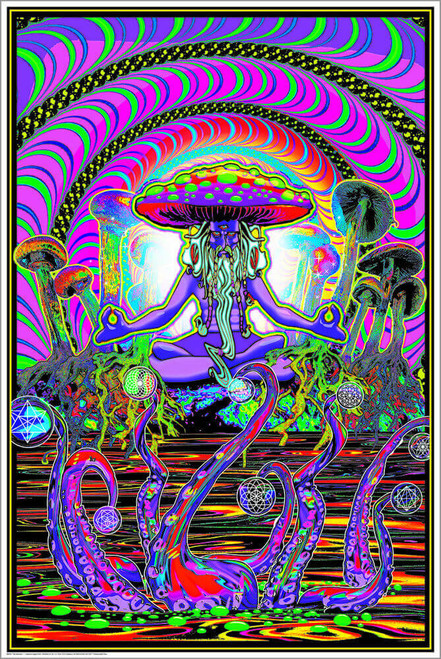 "The Shroomer Non-Flocked Blacklight Poster 24"" x 36"""