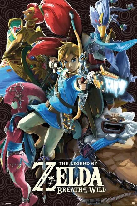 """Zelda - Breath of the Wild - Divine Beasts Poster 24"""" x 36"""""""