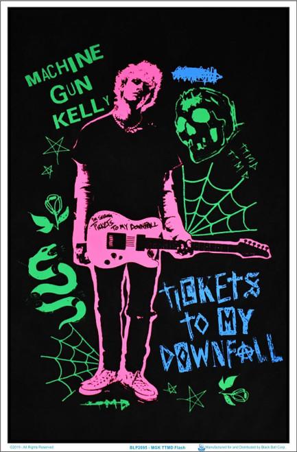 "Machine Gun Kelly Ticket to My Downfall  Flash - Blacklight Poster 23"" x 35"""