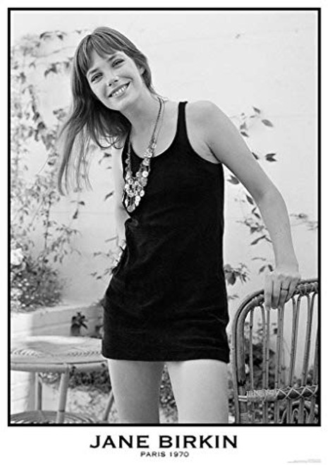 Jane Birkin Paris 1970 Music Poster 23.5x33 inch