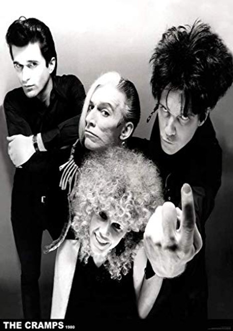 The Cramps 1980 Black & White Band Poster 23.5 x 33 inch