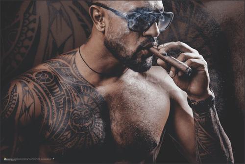 """Cigar Smoke Poster 36"""" x 24"""""""