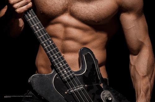 "Hot Guitar Poster 17"" x 11"""