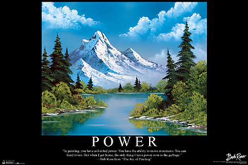 Power - Bob Ross Poster 36in x 24in Image