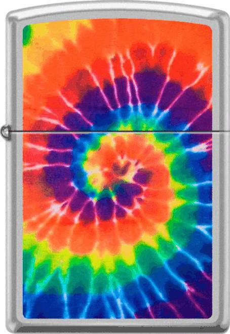 Tye Dye Swirl Chrome Zippo Lighter