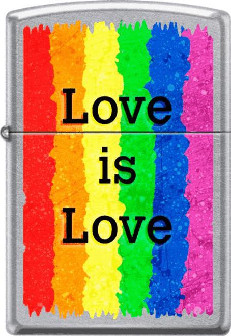 Love is Love Rainbow Chrome Zippo Lighter