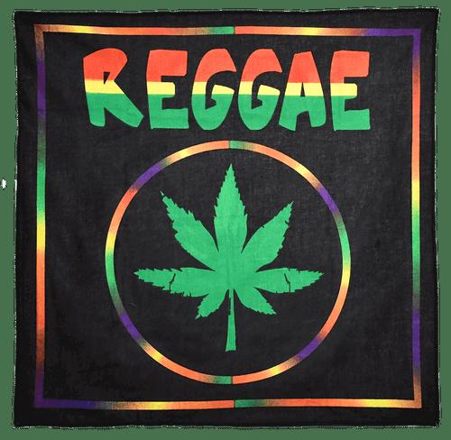 "Bandana - Reggae Leaf - 21"" x 21"" - Cotton"
