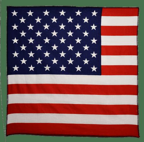 "Bandana - USA Flag - 21"" x 21"" - Cotton"