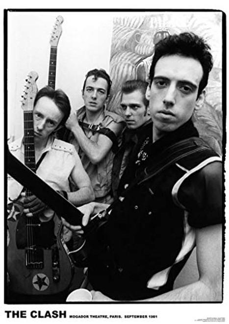 The Clash Mogador Theatre, Paris 1981 Music Poster 23.5x33 inch