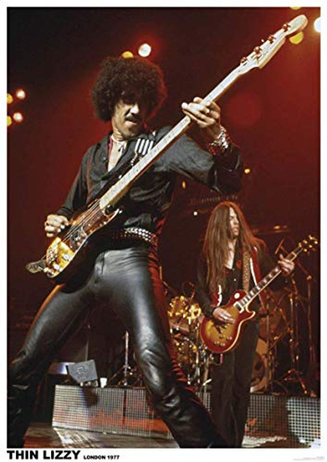 """Thin Lizzy Poster - Phil Lynnott London 1977 (23.5""""x33"""")"""