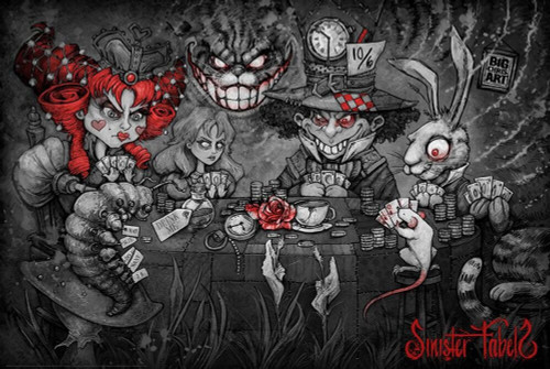 """We Are All In Sinister Fables by Big Chris Poster - 36"""" x 24"""""""