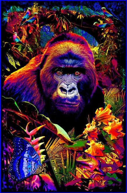 "Gorilla Encounter Non-Flocked Blacklight Poster 24"" x 36"""