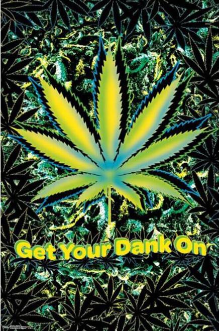 """Marijuana Neon Poster - 22.375"""" x 34"""""""