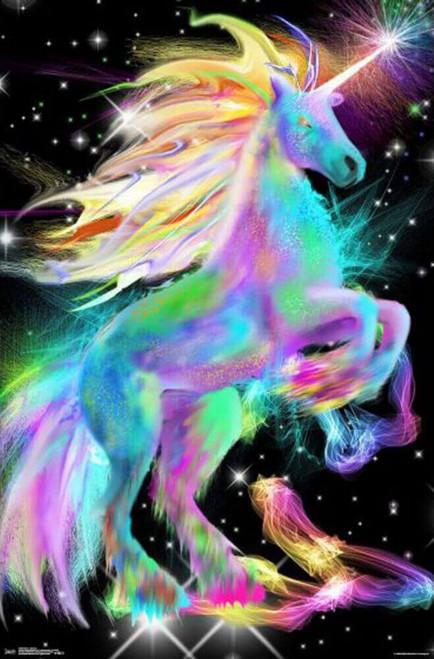 "Unicorn Neon Poster - 22.375"" x 34"""