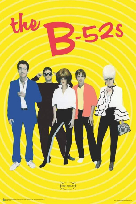 """The B-52s Poster - 24"""" x 36"""""""