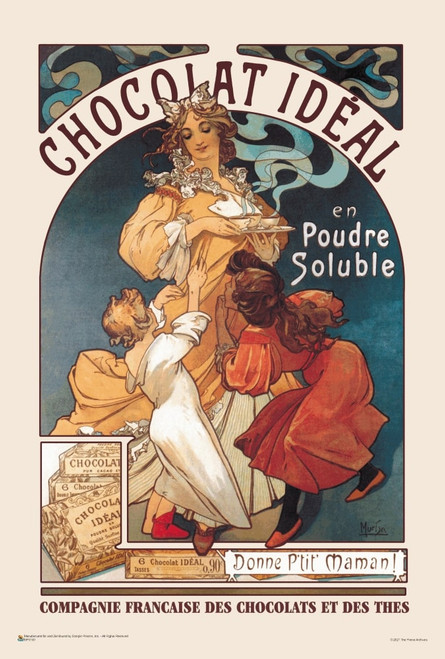 "Chocolat Ideal by Alphonse Mucha Mini Poster 12"" x 18"""