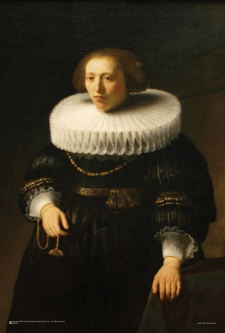 """Woman with a Ruff Collar by Rembrandt Mini Poster 12"""" x 18"""""""