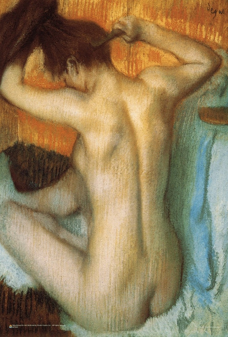 "Woman Combing Her Hair by Edgar Degas 12"" x 18"""