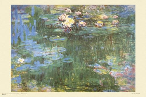 "Waterlilies by Claude Monet Mini Poster 18"" x 12"""