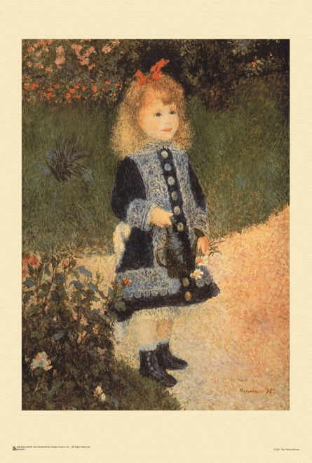 """A Girl with a Watering Can by Renoir Mini Poster 12"""" x 18"""""""