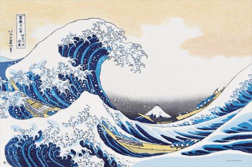 """The Great Wave of Kanagawa by Hokusai Mini Poster 18"""" x 12"""""""