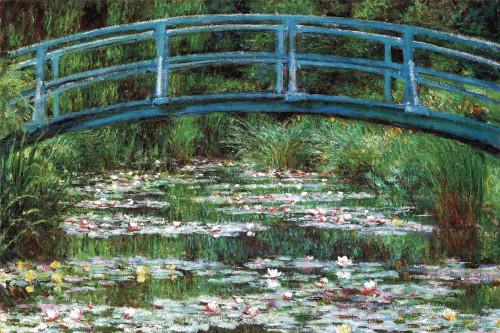 "Japanese Footbridge by Claude Monet Mini Poster 18"" x 12"""