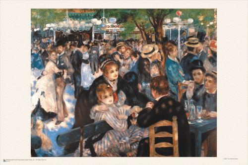 """Le Moulin de la Galette by Renoir Mini Poster 18"""" x 12"""""""