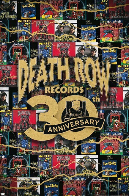 """Death Row Records - 30th Anniversary Poster - 22.375"""" x 34"""""""