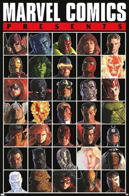 """Marvel Comics - Presents Grid Poster - 22.375"""" x 34"""""""