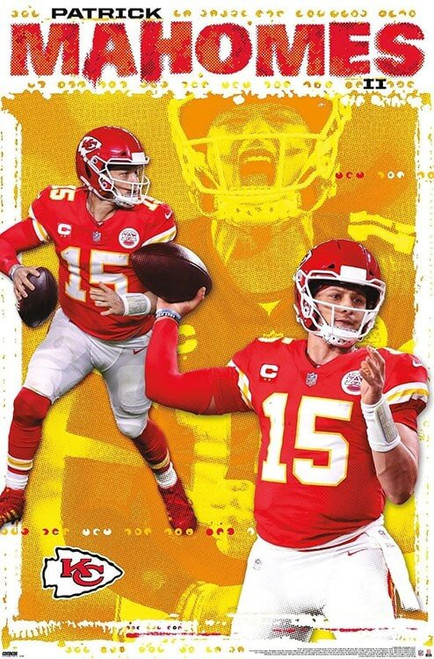 "NFL Kansas City Chiefs - Patrick Mahomes II Poster - 22.375"" x 34"""
