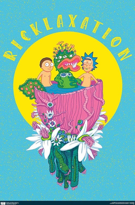 """Rick and Morty - Ricklaxation Neon Poster - 22.375"""" x 34"""""""