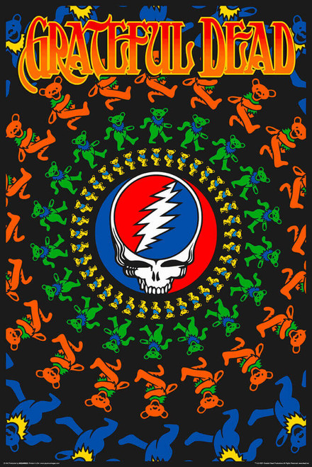"Grateful Dead - Non-Flocked Blacklight Poster 24"" x 36"""