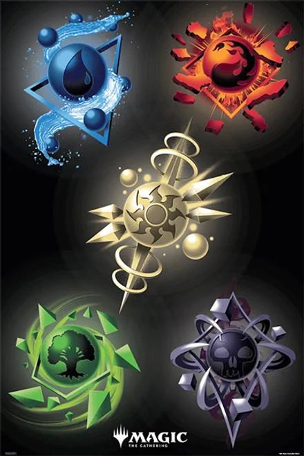 "Magic the Gathering - Manas Poster 24"" x 36"""