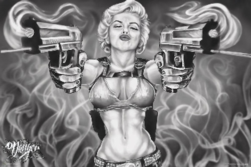 Marilyn Guns - James Danger Harvey Poster 36in x 24in Image