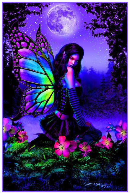 "Fairy Garden - Non Flocked Blacklight Poster 24"" x 36"""