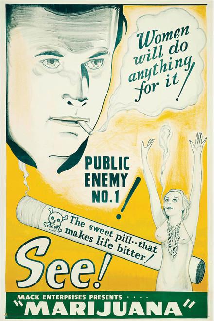 "See Marijuana 1940 Mini Movie Poster 12"" x 18"""