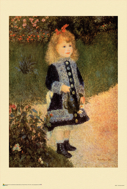 """A Girl with a Watering Can - Pierre-Auguste Renoir Mini Poster 12"""" x 18"""""""