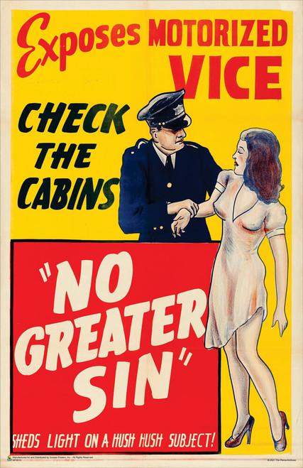 "No Greater Sin (Alexander International Film, 1941) Mini Movie Poster 11"" x 17"""