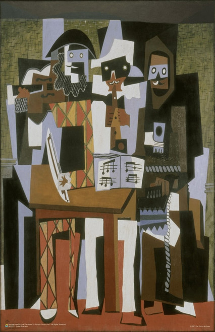 """Three Musicians by Pablo Picasso Poster 11"""" x 17"""""""