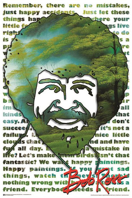 Bob Ross Quotes Poster 24in x 36in Image