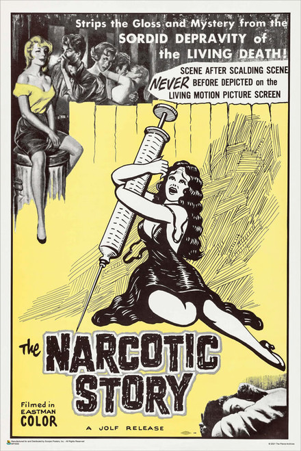 """Jolf's The Narcotic Story 1958 Mini Movie Poster 12"""" x 18"""""""