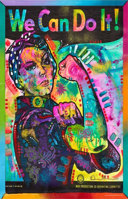 """Psychedelic Rosie the Riveter by Dean Russo Mini Poster 11"""" x 17"""""""