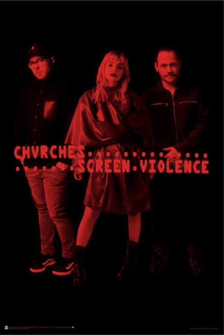 """Chvrches Screen Violence Poster - 24"""" x 36"""""""