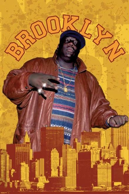 "Notorious B.I.G. Brooklyn Poster 24"" x 36"""