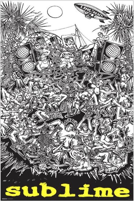 "Sublime - Cartoon Poster 24"" x 36"""