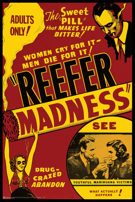 """Reefer Madness Vintage Movie Poster 24"""" x 36"""""""