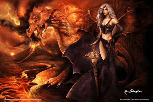 Poster Dragon's Keeper - Renee Biertempfel Poster 36in x 24in Image