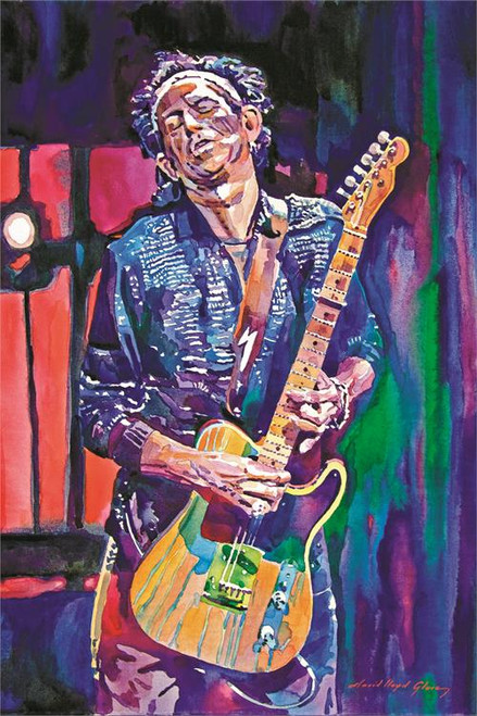 Keith Richards By: David Lloyd Glover Poster 24in x 36in Image