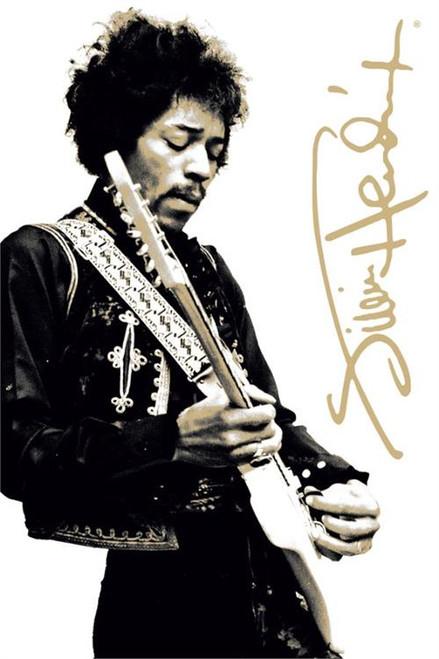 """Jimi Hendrix B&W Poster 24"""" X 36"""" Image"""